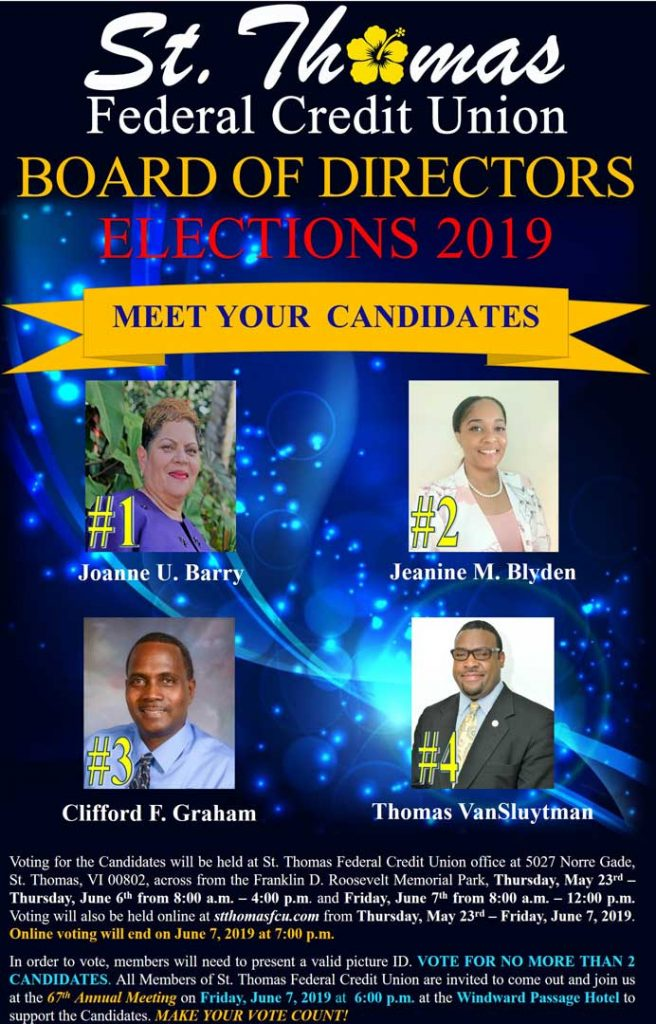 Visit our branch to vote for your new board of directors members!