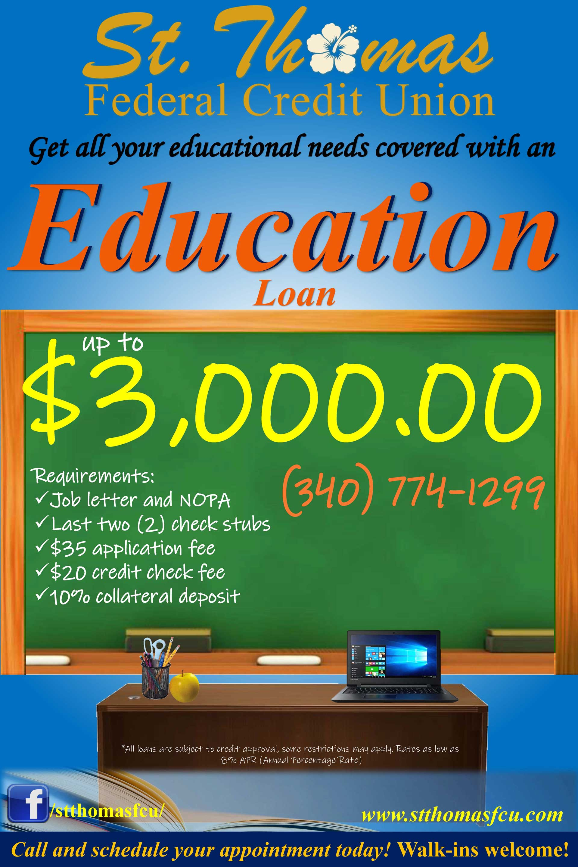 Educators! Apply for an education loan!