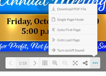 PDF-menu